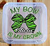 Personalized Cheer Bow Box, Cheer Bow Holder, Great Storage for Cheerleader