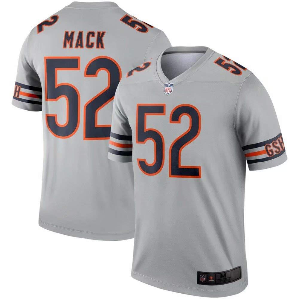 buy popular 70311 abebf Amazon.com: #52 Chicago Bears Khalil Mack Silver Inverted ...