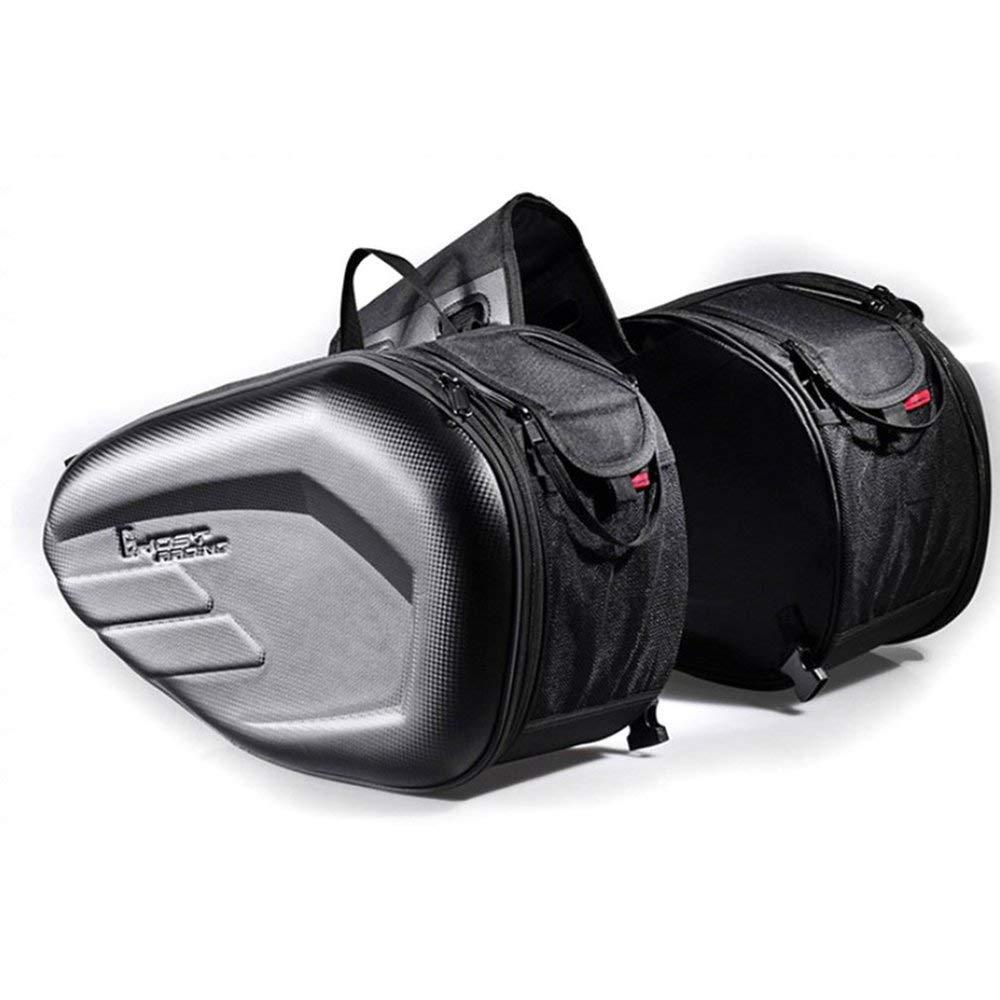 Sacoches de Moto 58L Sacoche de réservoir et sacoches de Sac à Dos et sacoches Extensibles Multi-usages pour Le siège arrière - Grande capacité - Noir Erduo