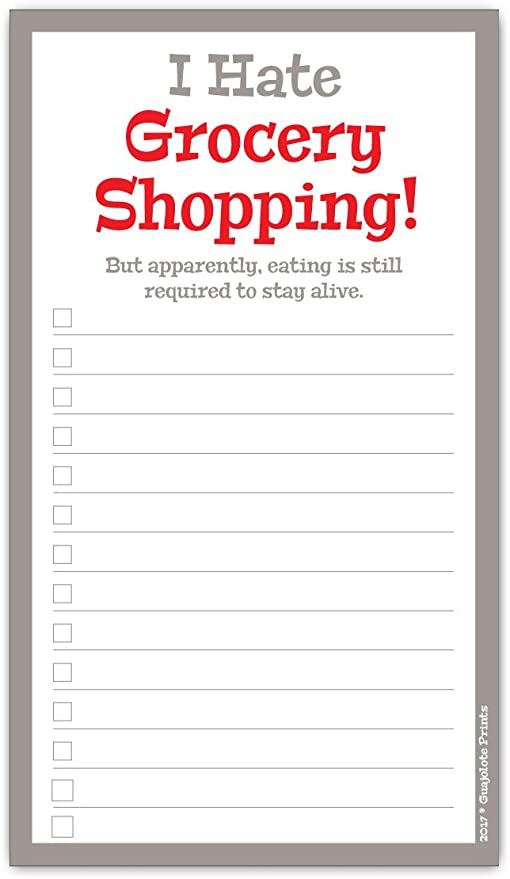 Custom Grocery Pad Personalised Shopping List Pad Monochrome Hashtag Shopping Notepad A5 Shopping List ON SALE Grocery List