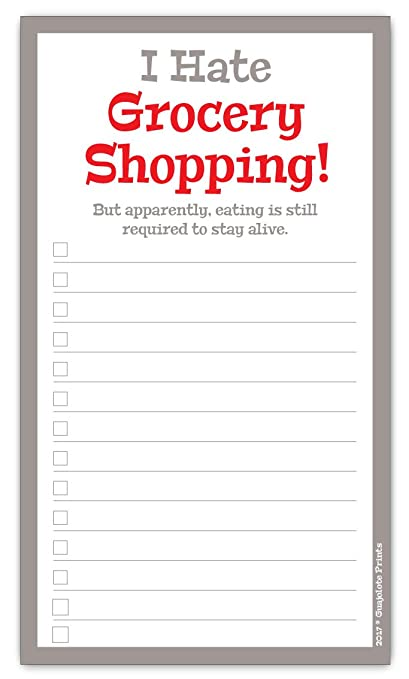 Grocery List | Amazon Com Grocery List Magnet Pad Funny I Hate Grocery Shopping