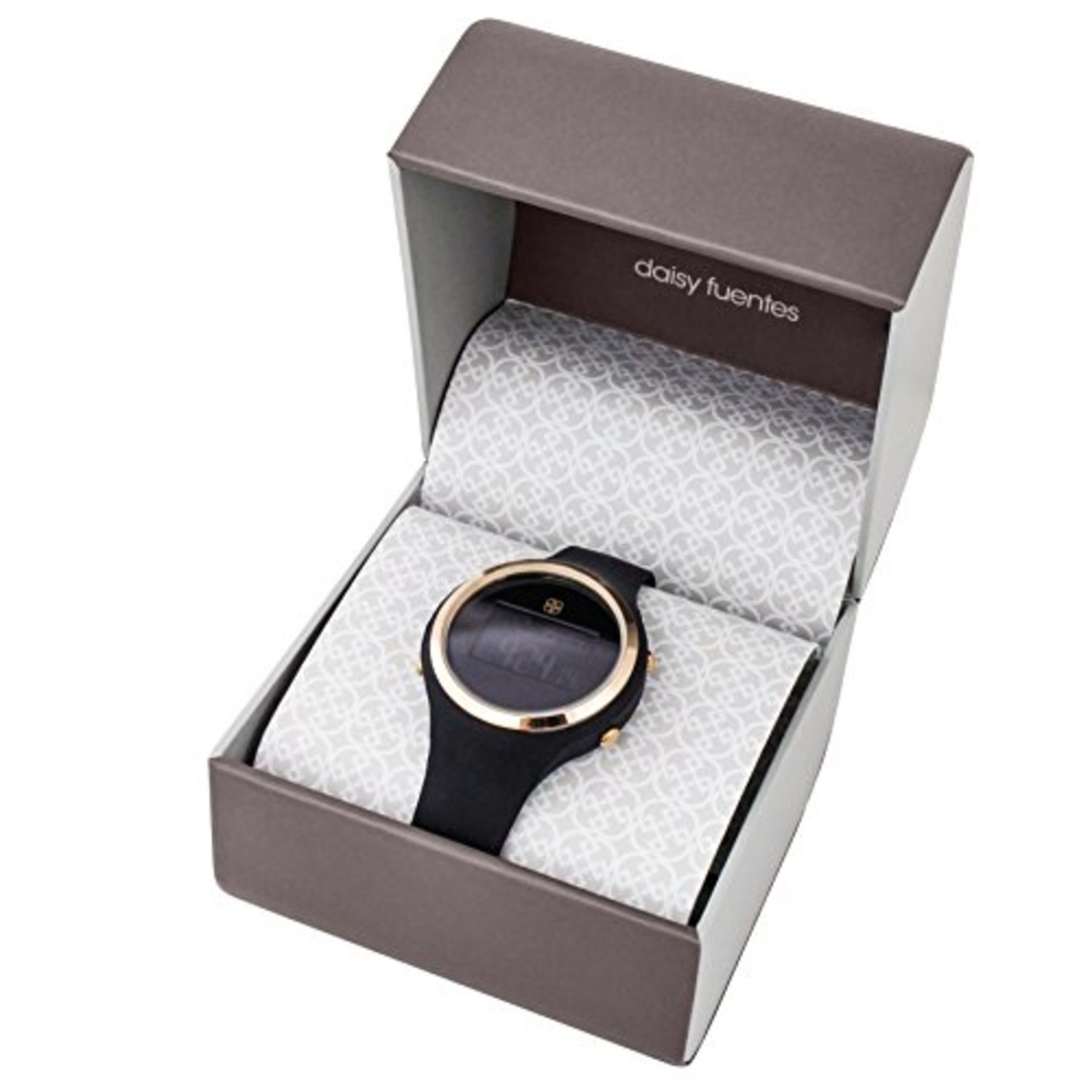 Amazon.com: Daisy Fuentes Digital Wrist Watch for Women, Silicone Band, Black & Rose Gold Face: Health & Personal Care