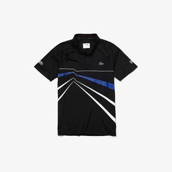 Lacoste - Polo para hombre Negro / blanco / azul (Upk). XS: Amazon ...