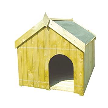Bricobravo Caseta para Perros de Madera L120 x p90 cm Muebles Exterior Jardín Terraza 42084: Amazon.es: Hogar
