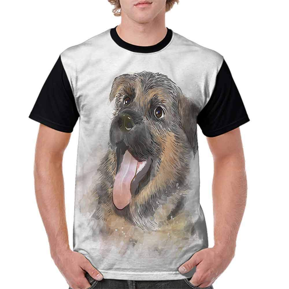 Casual Short Sleeve Graphic Tee Shirts,Happy Expression Fashion Personality Customization