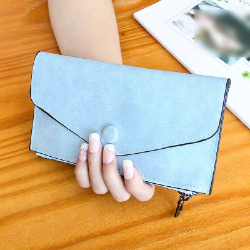 D Soft The New Wallet Female Long Section Zipper Wallets Thin Models Card Bag Frosted Envelope Bag Handbag (color   F)