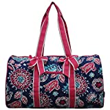 NGIL Quilted Weekend Travel Overnight 20'' Large Duffle Bag 2018 Spring Collection (Medievil Hot Pink)