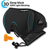 Air Ventilated Sleep Mask of Patented Design, 3D Contoured Eye Mask