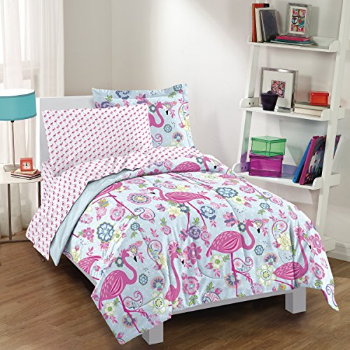Flamingo Comforter Set, Pink<br>Twin or Full