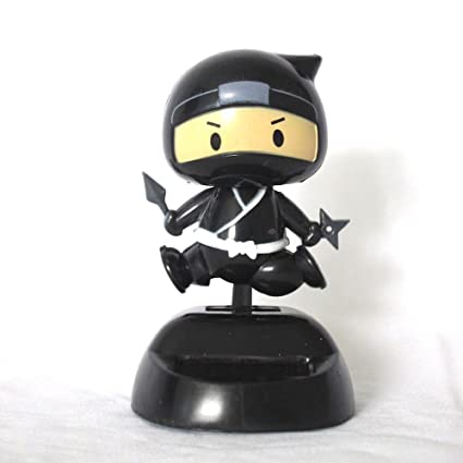 Amazon.com: CRE Solar Power Mascot Dark Ninja Running Motion ...