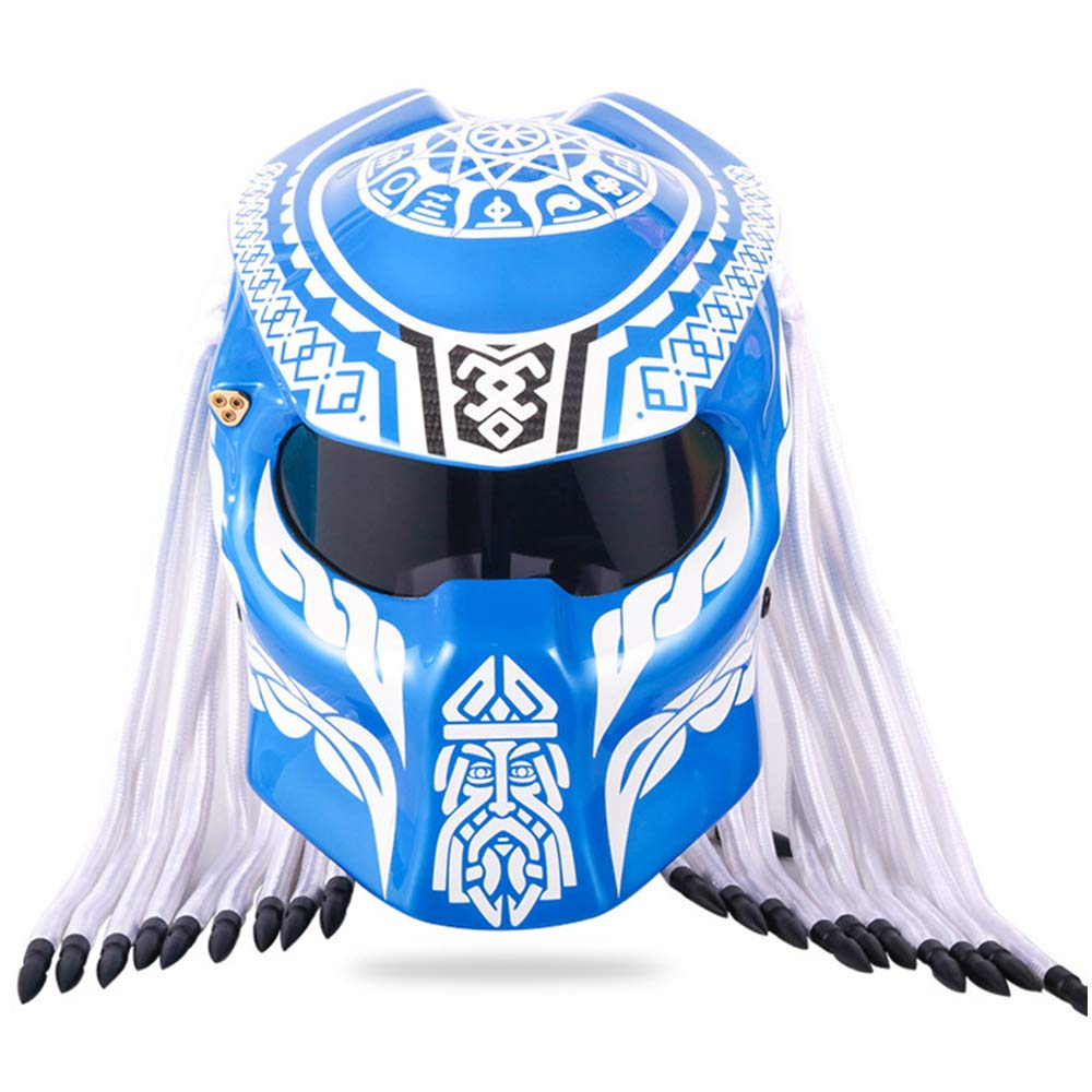 Chensheng Casco De Moto Depredador De Fibra De Carbono para ...
