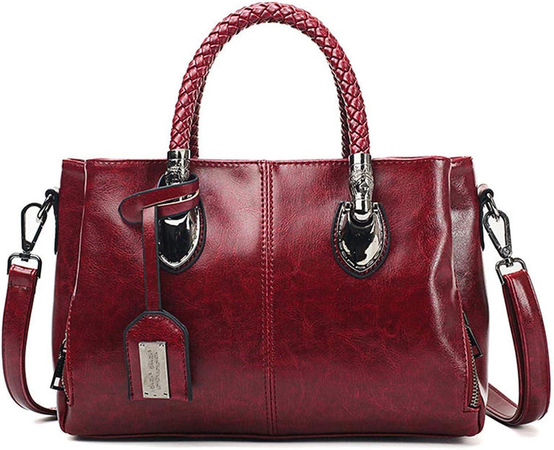 Vintage Oil Wax Leather Handbags Women Bags Ladies Hand Bags For Women Bag Bolsa