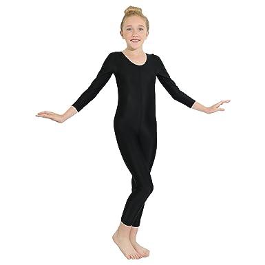 0ff00b1a23b0 Amazon.com  Danzcue Girls Long Sleeve Unitard Bodysuit Dancewear ...