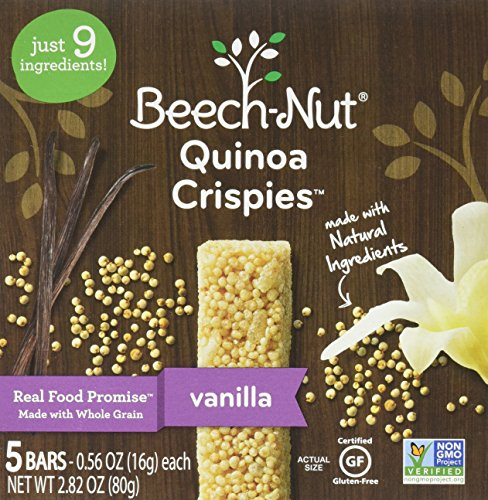 Beech-Nut Quinoa Crispies Vanilla Toddler Snack, 0.56 Ounce (Pack of 6) by Beech-Nut