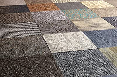 Carpet Tile Rug used as an Area Rug, Kitchen Rug, or Outdoor Rug or Make your own size: 5x7 Kitchen Rug, 8x10 Area Rug. Use as bedroom rug or runner with contemporary design for area décor.