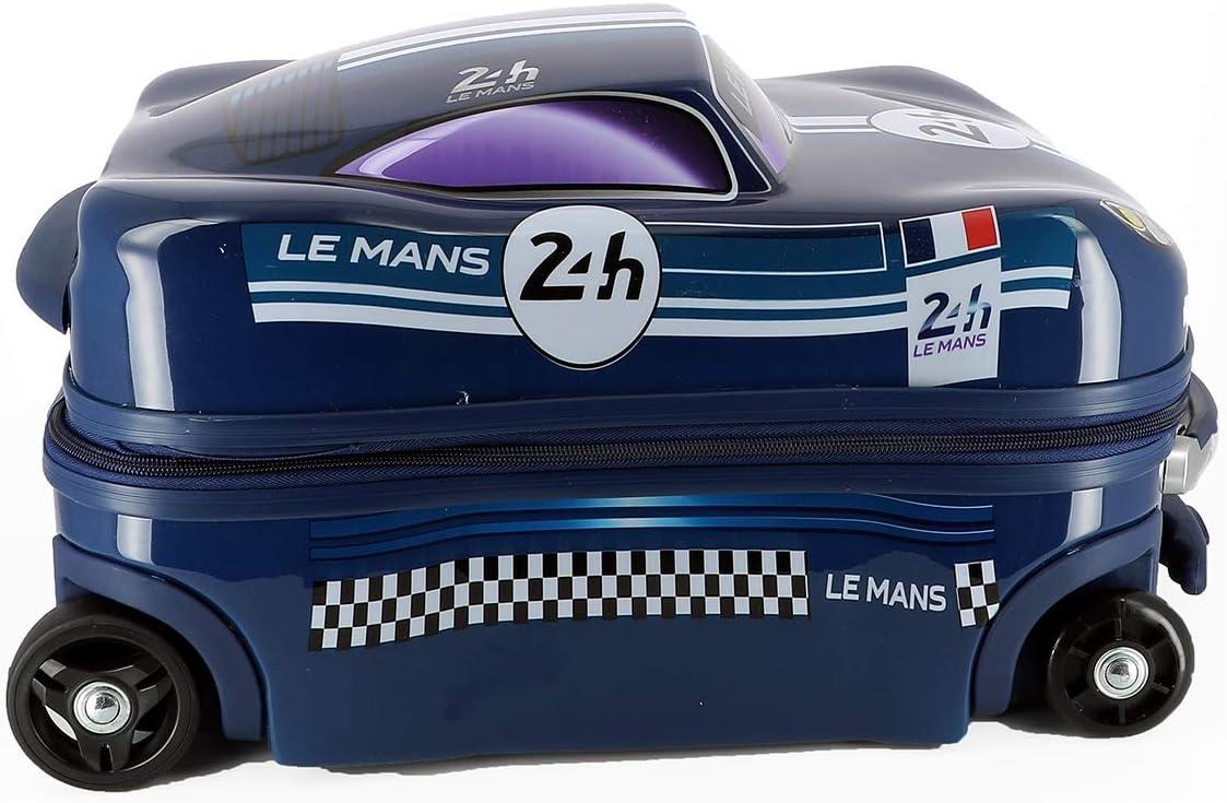 24H Le Mans Bolide ABS//PC Valise Trolley Enfant LM700BL Bleu 45cm