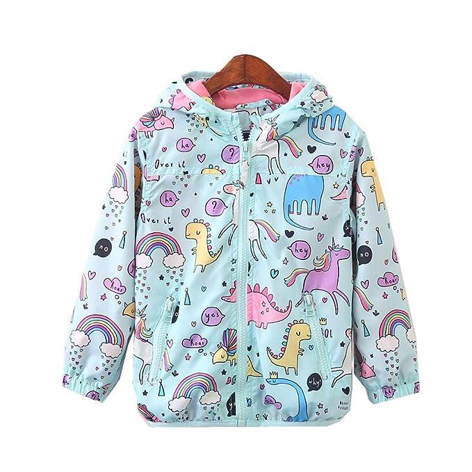 Amazon.com: CX.AZUL - Abrigo con capucha para niña con ...