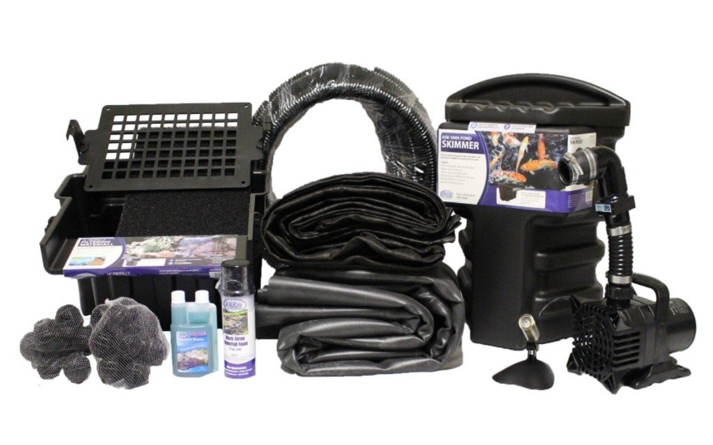 Half Off Ponds' MAN2 - 15 ft x 25 ft Medium Anjon Pond Kit w/ 4,000 GPH Pump, Anjon 16 Inch Waterfall, and Skimmer