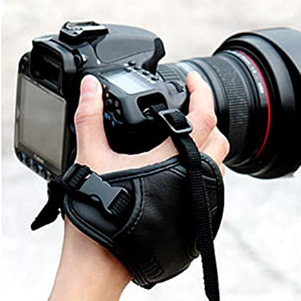 Piel cámara muñeca correa mano agarre para Canon Sony Nikon ...