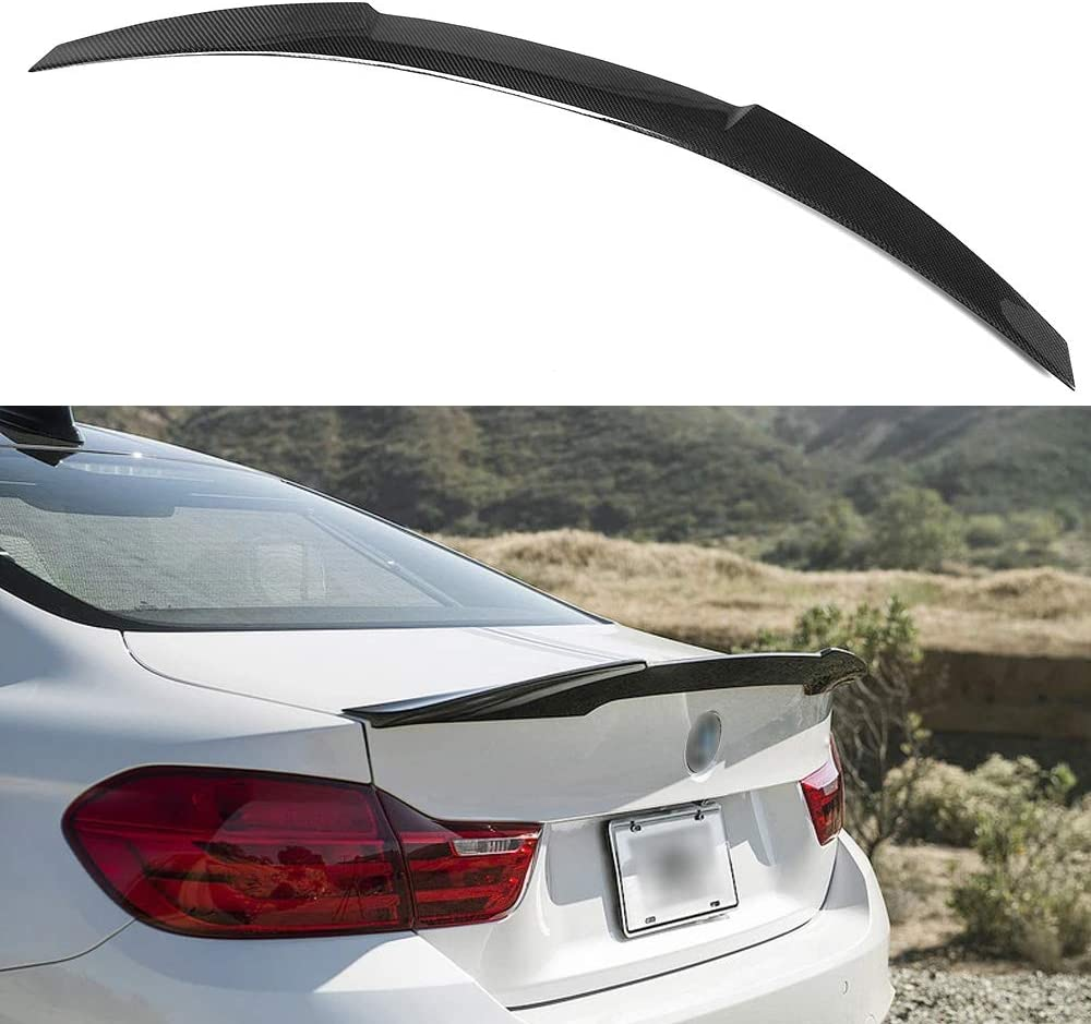 SNA Carbon Fiber Rear Trunk Lip Spoiler Compatible for 2010-2016 BMW 5 Series F10 and F10 M5 M4 Style Wing