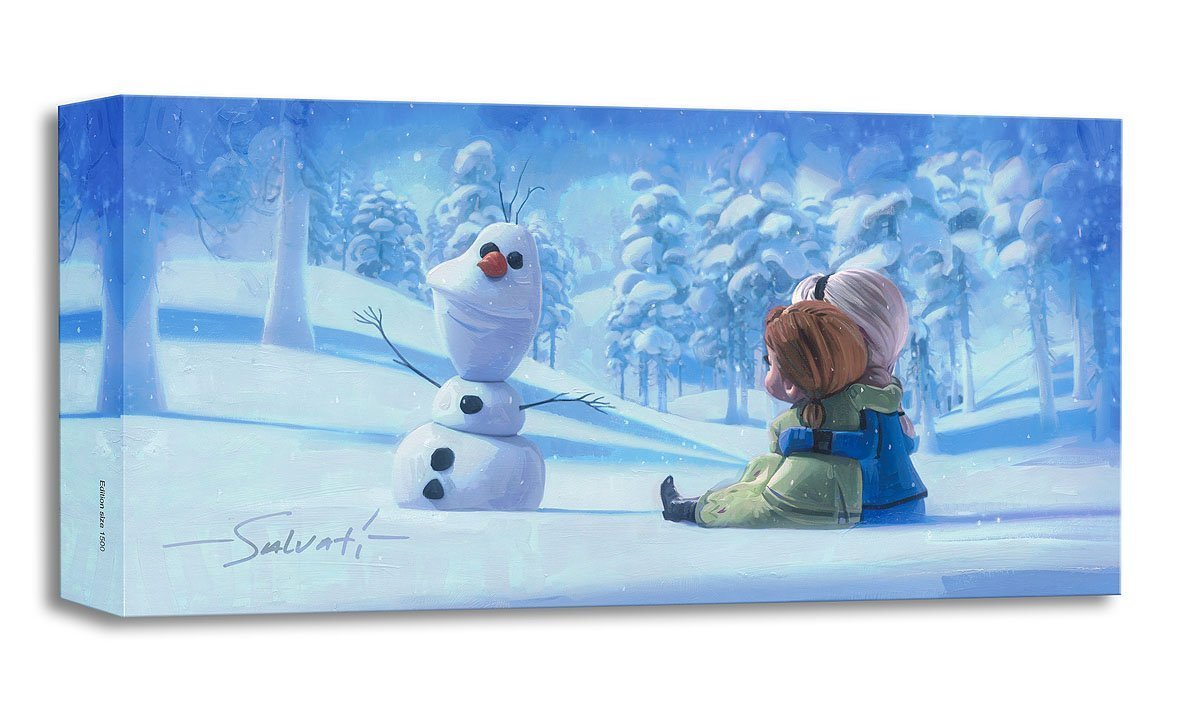 Memories of Magic - Treasures on Canvas - Disney Frozen Elsa Anna Gallery Wrapped Canvas by Jim Salvati