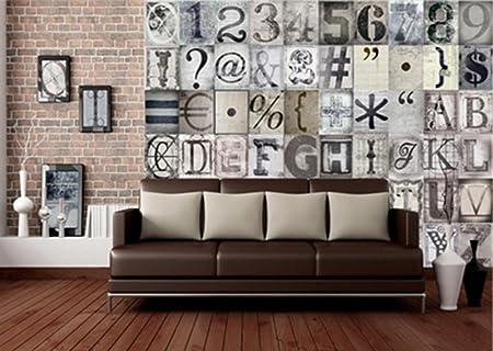 Carta Da Parati Lettere Alfabeto.Creative Collage Typography Lettere Alfabeto Foto Della Carta Da