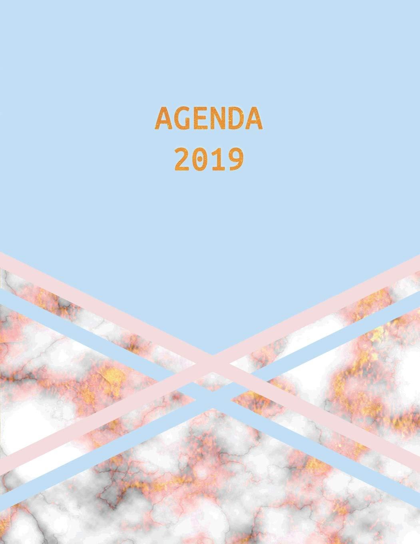 Agenda 2019: Semana Vista | Mármol Azul Rosa y Oro ...