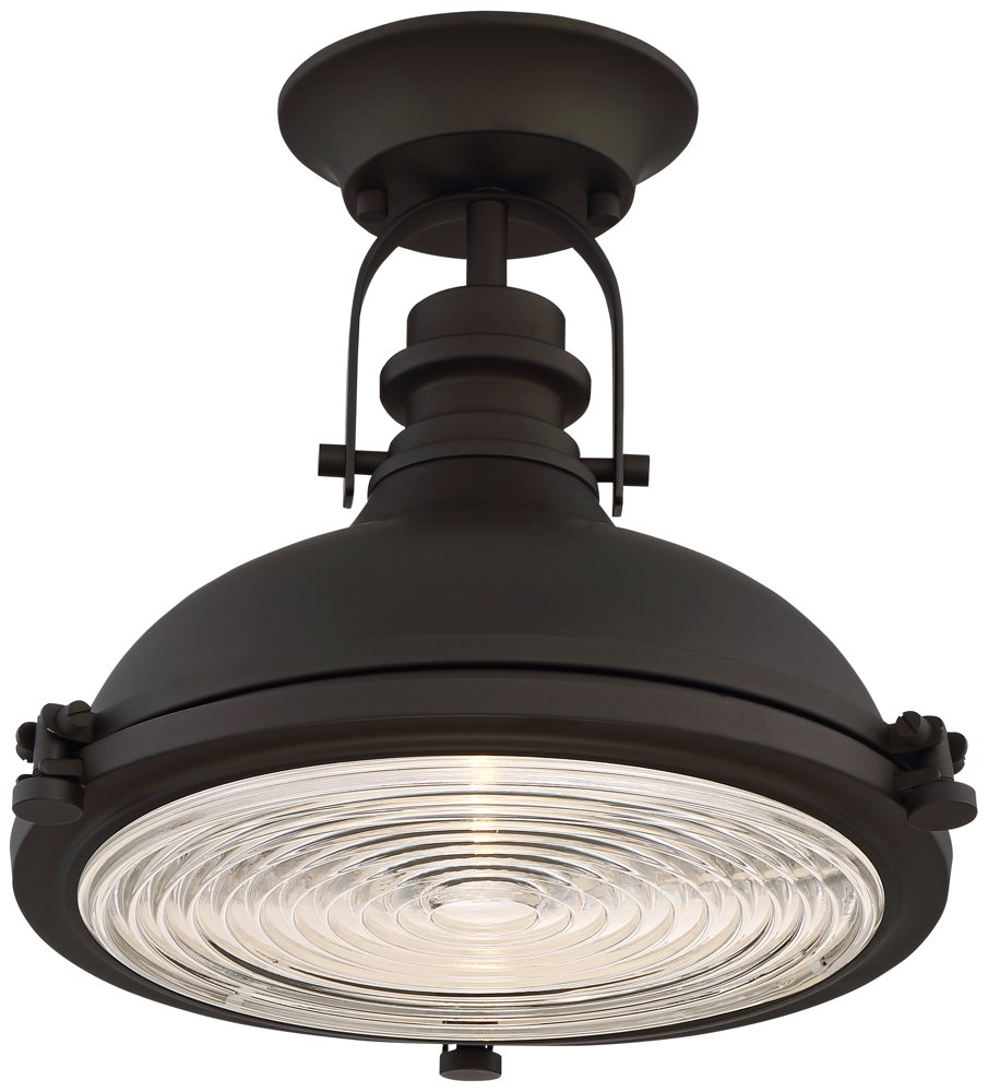 Verndale 11 3/4'' Wide Bronze Industrial Ceiling Light by Possini Euro Design