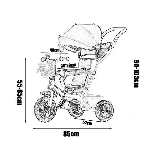 MU Sillas de paseo cómodas Carrito de bebé Triciclo de niños ...