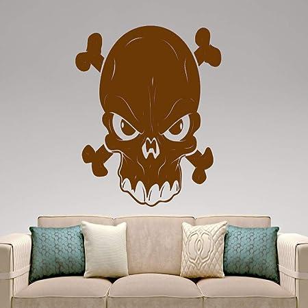 zqyjhkou Arte Diseñado Cráneo Silueta Cool Murales de Pared ...