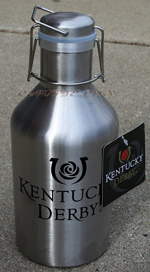 amazon com kentucky derby icon growler 64oz stainless steel