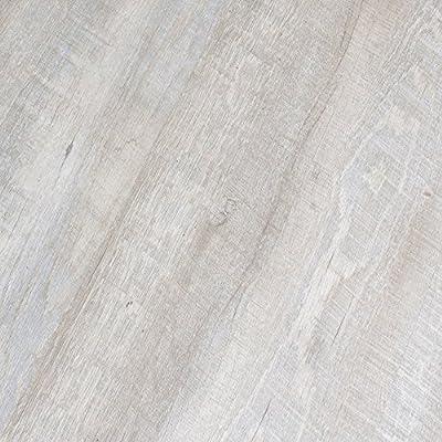 BestLaminate Perfecto Vinyl Whitewash Grey Oak 4mm Luxury Plank 9113-16 Vinyl SAMPLE