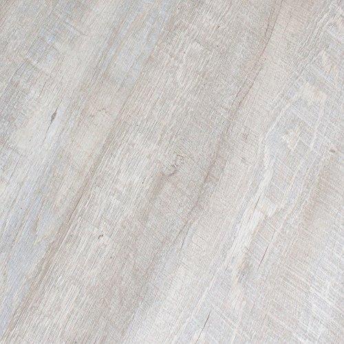 BestLaminate Perfecto Vinyl Whitewash Grey Oak 4mm Luxury Plank 9113-16 Vinyl SAMPLE (Oak Vinyl Planks)