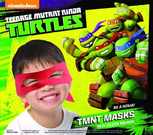 TEENAGE MUTANT NINJA TURTLES MASKS ~SET OF 10 PARTY FAVORS]()