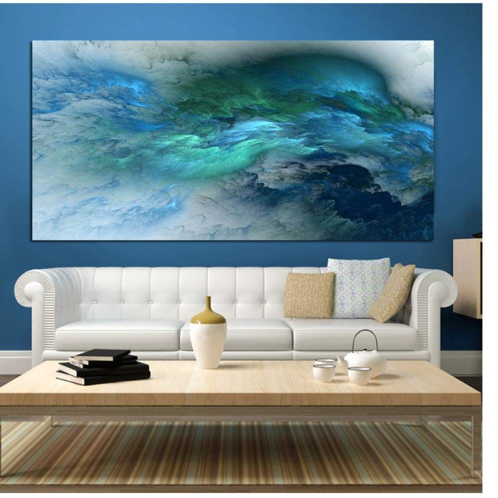 Abstract Colors Unreal Canvas Art Wall Art Painting Living Room Large Home Decor Wall Hanging Modern Art Print Painted(no frame)60x120cm