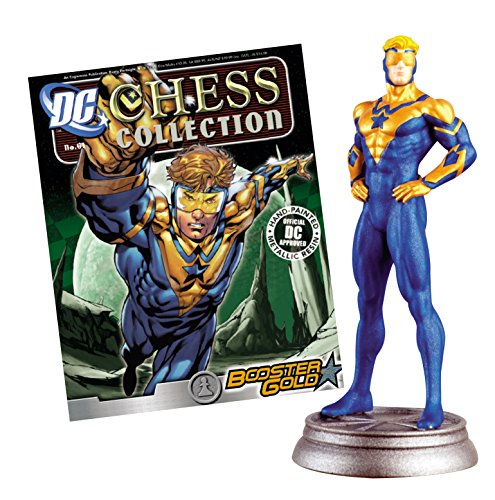 Eaglemoss DC Superhero Chess Figure & Magazine #61 Booster Gold White Pawn -  APR141642
