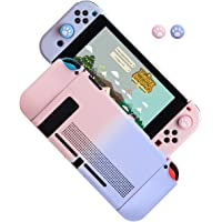 Dockable Case for Nintendo Switch, Protective Cover Case for Nintendo Switch and Joy-Con Controllers (Pink-Purple)