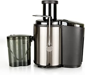 Anntool 800W 110V Electric Juice Extractor, Stainless Steel Centrifugal Juicer with Juice Container, Blender for Fruit Vegetable, Anti-drip & Easy Clean (Black)