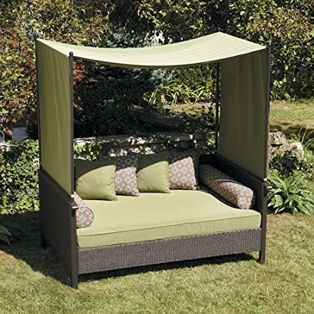 Amazon.com : Outdoor Day Bed, Green. Relax & Enjoy This Wicker Daybed. This  Wicker Outdoor Daybed Features Powder-coated Steel & All Weather Wicker.