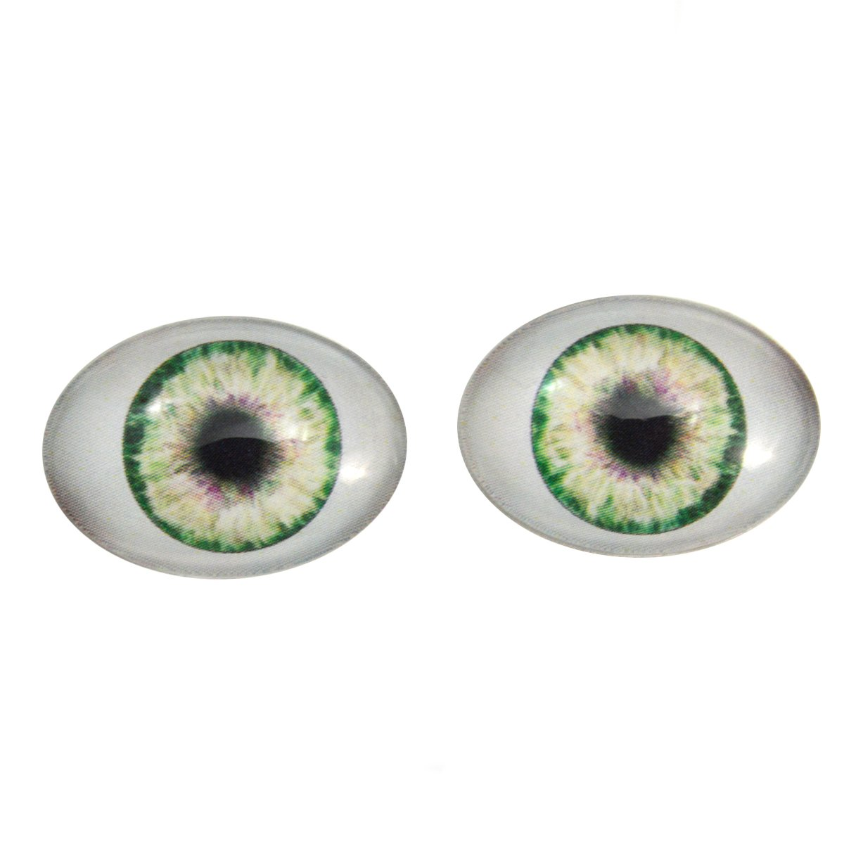 Green Doll Oval Glass Eyes Fantasy Taxidermy Art Doll Making or Jewelry Crafts Set of 2 (30mm x 40mm) Megan' s Beaded Designs 599935291-30