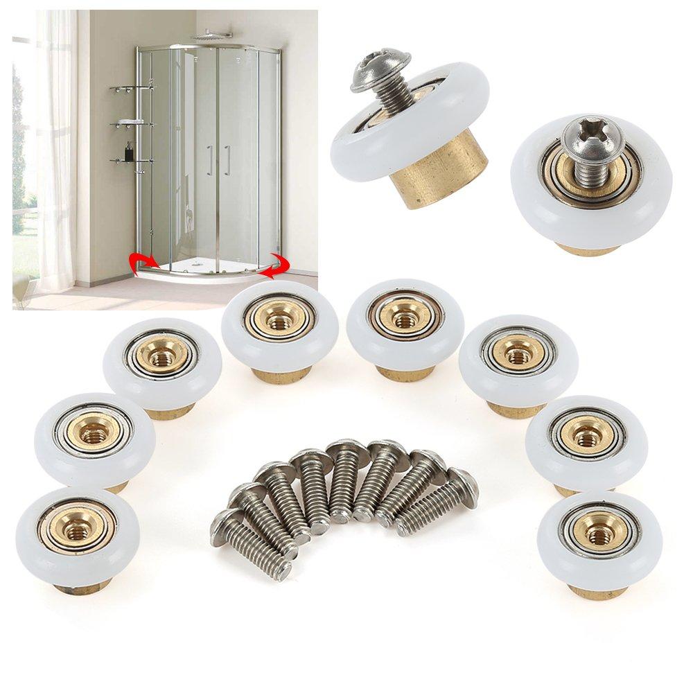Shower Door Rollers Sliding Tub Shower Door Replacement Rollers 3/4 by oobest (8 Pack)