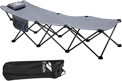 ELTOW Cozy Folding Camping Cot Heavy-Duty Portable Collapsible Sleeping Bed...