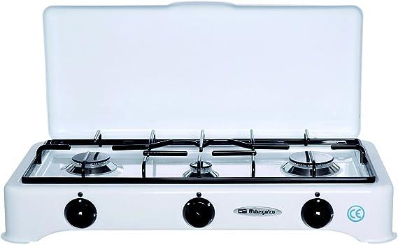 Orbegozo FO 5327 C/GP - Hornillo de 3 fuegos