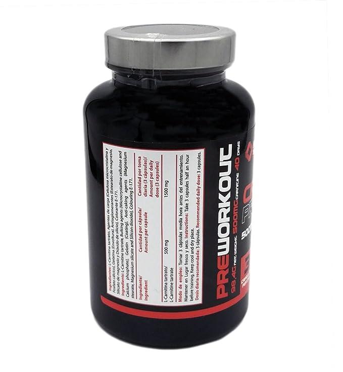 L Carnitina Aumenta Rendimiento Deportivo y la Masa Muscular - Potente Quemagrasas fatburner 1500 mg 120 Capsulas Maxima Calidad Heal Secrets: Amazon.es: ...