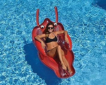 amazzang- piscina rideable gigante hinchable flotante tumbona de ...