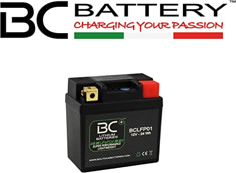 BC Lithium Batteries BCT12B Batteria Moto al Litio LiFePO4 1 Nero