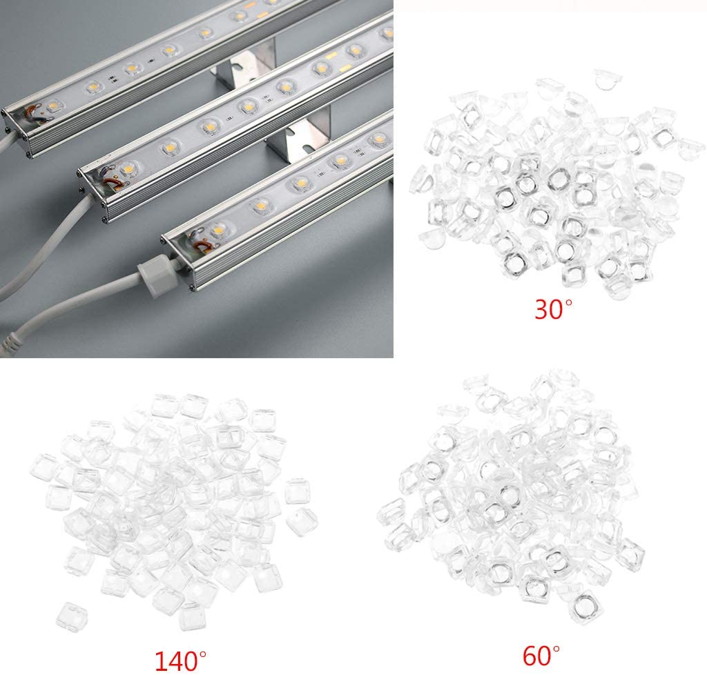 JunYe 100 St/ück Linse f/ür 5050 LED WS2812 APA102 WS2811 SK6812 30 60 140 Grad Winkellinse 140 deg