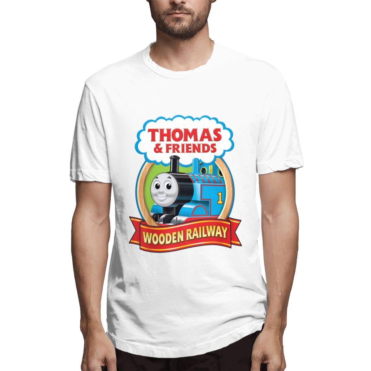 Seuriamin Thomas The Tank Engine Friends Basic Jogging Short Sleeve T Shirts