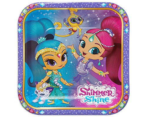 American Greetings Shimmer & Shine Paper Dessert Plates, 8 Count]()