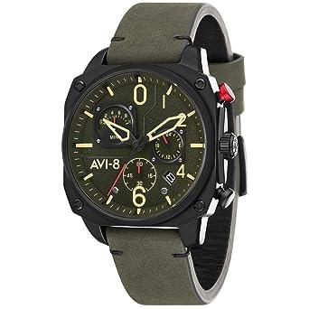 AVI-8 Hawker Hunter Reloj de Hombre Cuarzo 45mm Correa de Cuero AV-4052-08: Amazon.es: Relojes